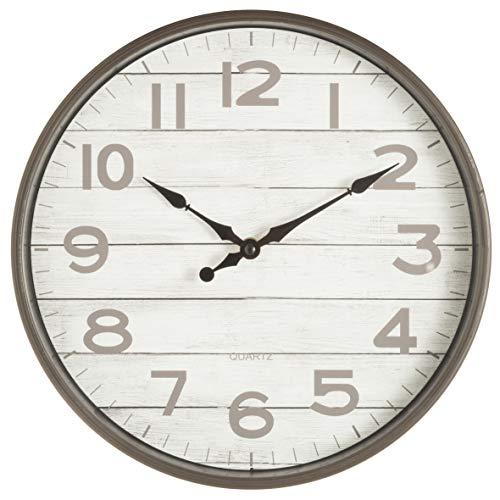 Orologio da Parete in PVC Silenzioso Stile Vintage Classic Cornice Legno 32X5X32 cm