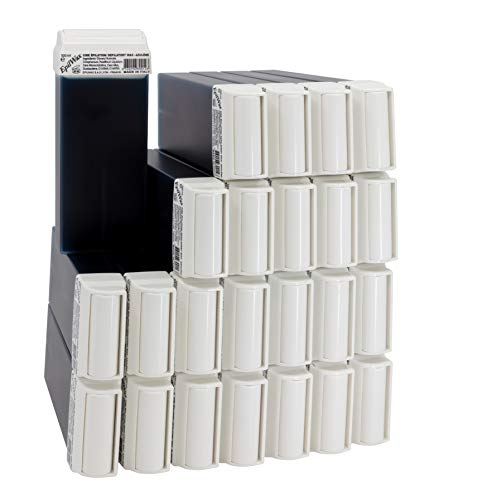 EpilWax Lot de 24 Cartouches de Cire Roll-On à l'Azulène pour Épilation - 100 ml