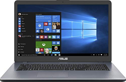 ASUS Notebook (17,3 Zoll FullHD Matt) Intel Core N5000 QuadCore, 8GB DDR4 RAM, 256GB M.2 PCIe, Intel UHD, W-LAN, BT, HDMI, Windows 10 Pro grau