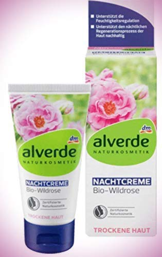 alverde NATURKOSMETIK Nachtcreme Wildrose, 50 ml