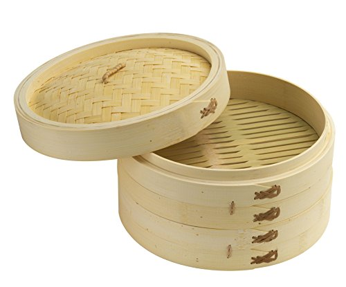 Joyce Chen 26-0013 Bamboo Set Steamer, Tan