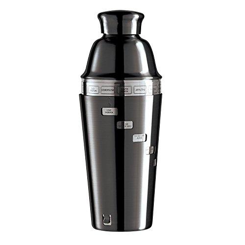 OGGI Spiegel dial-a-Drink Cocktail Shaker mit 15Rezepten (vernickelt)