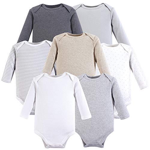 Hudson Baby Body Unisex de algodón de Manga Larga para bebé, Neutral Basic, 18-24 Meses