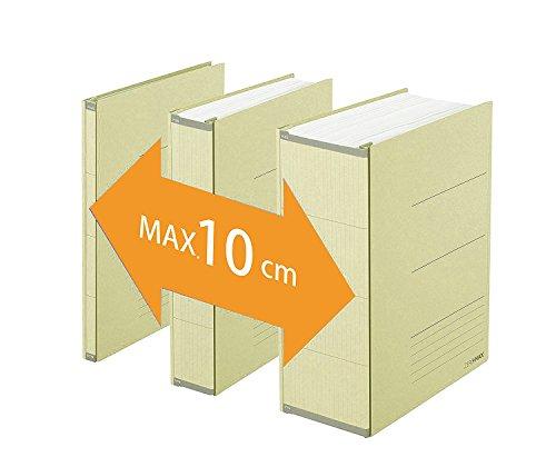 PLUS Japan, Zero Max Platzsparordner in Beige, 1er Pack (1 x 1 Ordner)