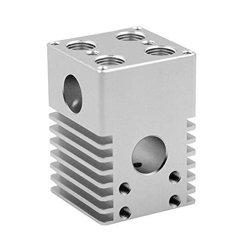 Domybest Hotend Kit glijblok van aluminiumlegering voor 4 extrudersproeiers voor accessoires voor 3D-printer Ultimaker 2
