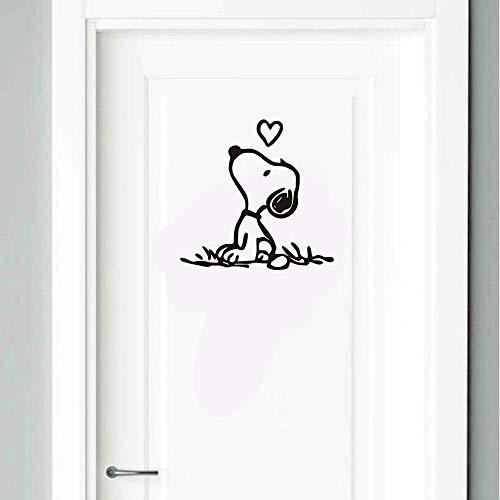 Calcomanías para perros Snoopy personaje de dibujos animados comic lindo perro Calcomanía de puerta de Snoopy y Woodstock para niños niñas dormitorio habitación de juegos de guardería