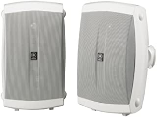 Yamaha NS-AW350W All-Weather Indoor/Outdoor 2-Way Speakers - White (Pair) (Renewed)