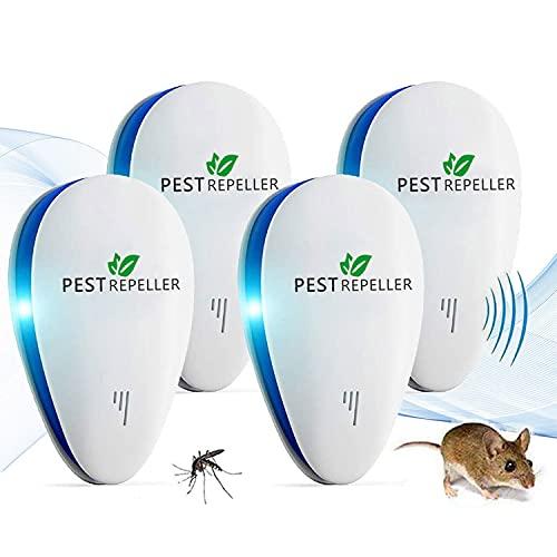 Repelente Mosquitos, Ahuyentador de Ratones 100% Seguro para Personas y Animales, para Ratones, pulgas, Mosquitos, cucarachas, Hormigas, arañas [No Tóxico]