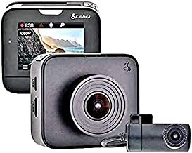 Cobra Drive HD Dash Cam with 32GB MicroSD Included Feat.1080p Full HD Front Cam and 720p HD Rear Cam, with G-Sensor Auto Accident Detection, Loop Recording, 160 Degree Ultra-Wide Angle DVR