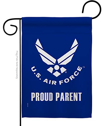 USA Decoration Proud Air Parent Garden Flag Armed Forces USAF United State American Military Veteran Retire Official House Decoration Banner Small Yard Gift Double-Sided, 13'x 18.5', Thick Fabric
