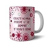 Tazza Mug Idea Regalo Festa dei Nonni Grazie Nonna Ti Voglio Bene