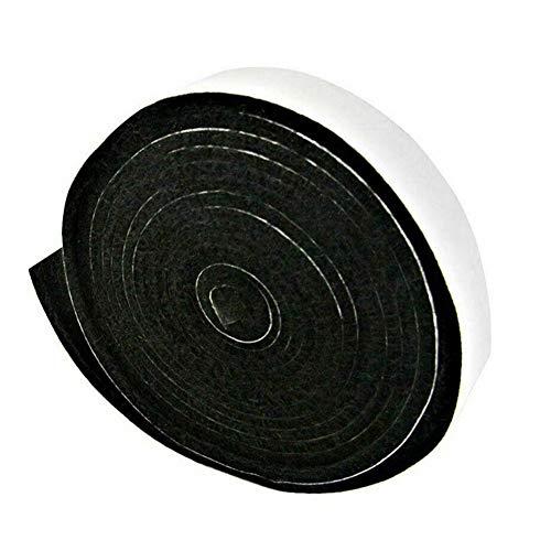 Fanville Grill-Rauch-Seal-Streifen Selbststock Leak Proof Raucher Dichtung Ofen Türdichtung Hopper Rauch Keeping Streifen Hitzebeständige Grill Dichtung 2cmx3.6m