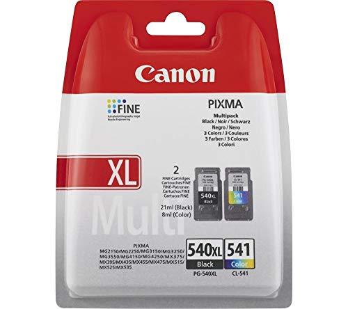 Canon PG-540BK XL/CL-541 Original Nero, Ciano, Magenta, Giallo Multipack 4 pezzo(i)