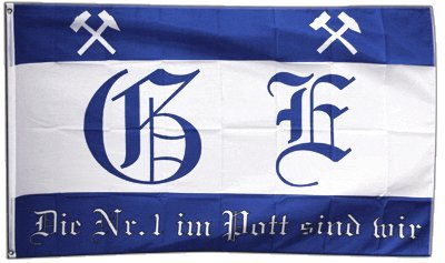 Flagge Fanflagge Gelsenkirchen - 90 x 150 cm
