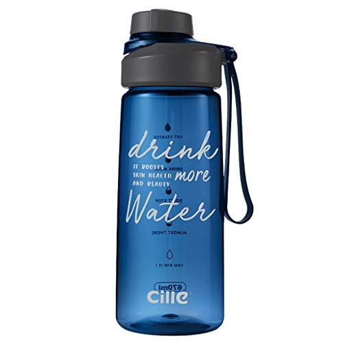 Botella deportiva de ,460ml, 670ml, 850ml, plástico Reutilizable a Prueba de Fugas,...