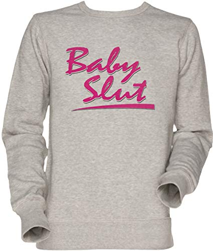 Vendax Baby Slut Unisex Sweatshirt Grau