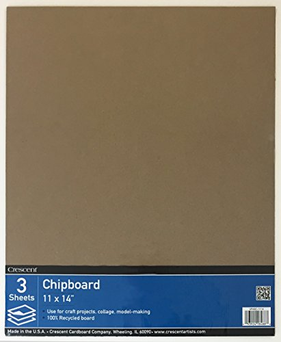 Crescent #40C Chipboard, Value Pack, 3 Count, 11' x 14' Size