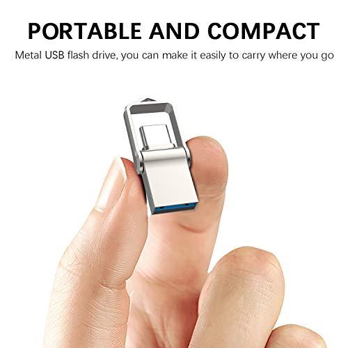 TOPESEL Chiavetta USB Dual USB 3.0 Type C da 64GB