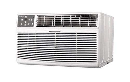 Koldfront WTC12012WCO230VSLV White 12,000 BTU 230 Volt Through-the-Wall Air Conditioner and Wall Sleeve with Dehumidifier and Remote Control