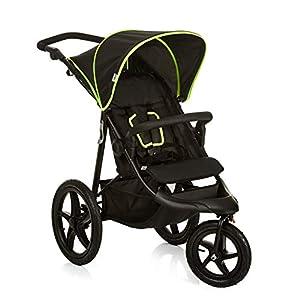 Hauck Runner – silla de paseo, silla running con 3 ruedas neumaticas, plegado compacto, ruedas XL con camara de aire…