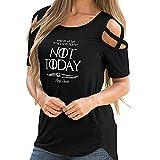 Jacklin-F No Hoy Juego de Tronos Camisas de Moda para Mujer Algodón Casual Loose Camisetas gráficas Tops