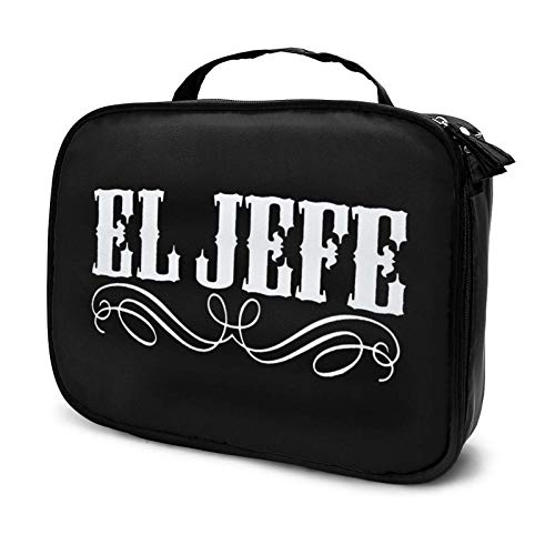 el jefe Makeup Bag Cosmetic Organizer Toiletry Beauty Case Travel Pouch