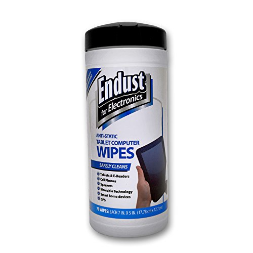 Endust for Electronics Touchscreen cleaning wipes Great tablet wipes 70 count 12596