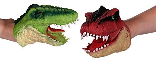Ideal Trend 2er Set Handpuppe Dinosaurier Dino Puppe T Rex Fingerpuppe Kinder Spielzeug