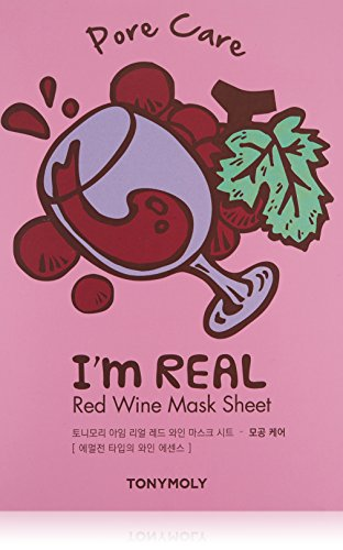 Tonymoly I'm Real Red Wine Sheet Mask, 10 Count