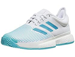 Adidas Parley White and Blue Stripped Sneakers
