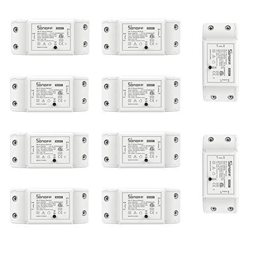 Blxecky Sonoff DIY WiFi Smart Schalter Fernbedienung Drahtlos Strom Switch Intelligente Zeitschaltuhr Steuerung Über Aamazon Echo Alexa, Android IOS APP (10 Stück)