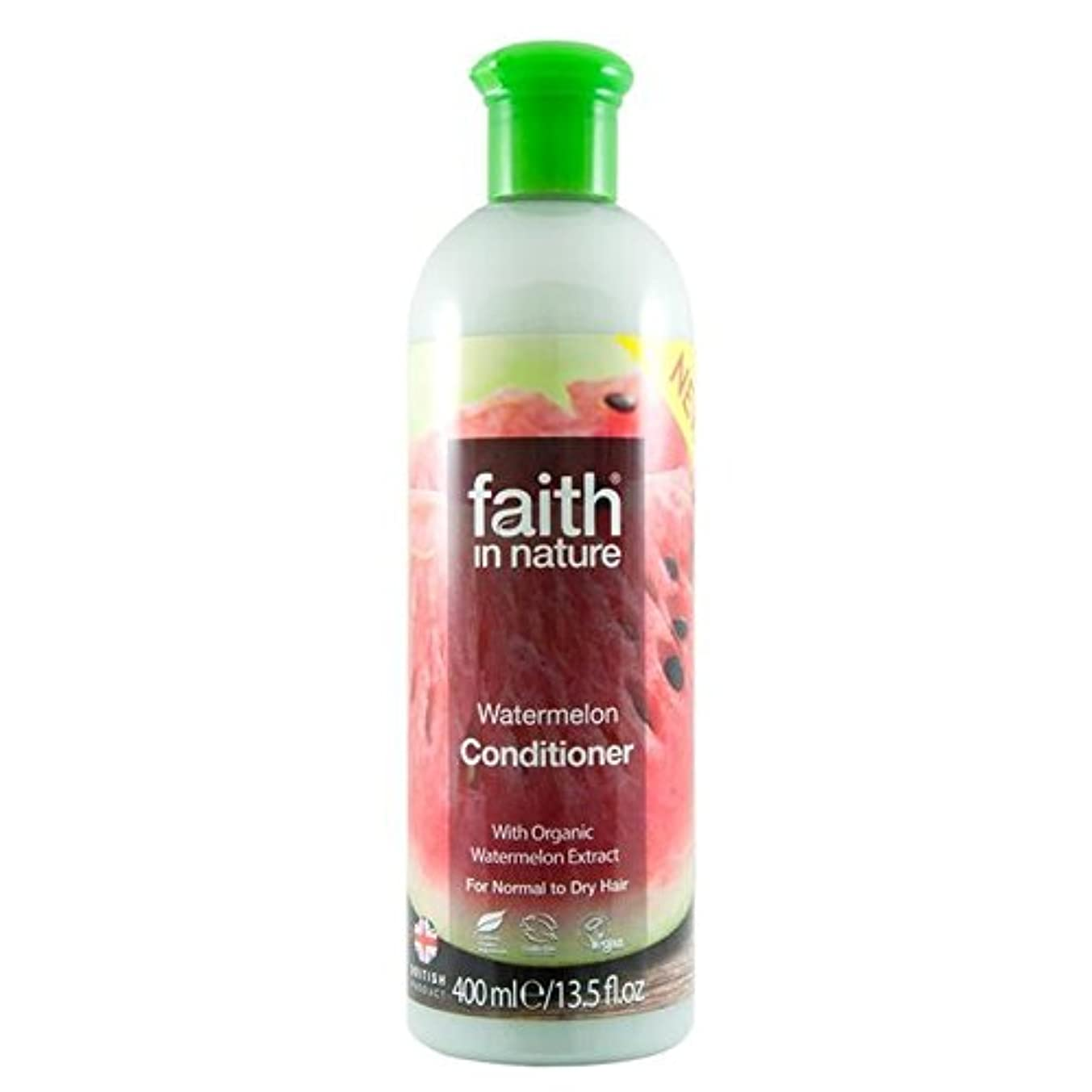 Faith in Nature Watermelon Conditioner 400ml (Pack of 6) - (Faith In Nature) 自然スイカコンディショナー400ミリリットルの信仰 (x6) [並行輸入品]