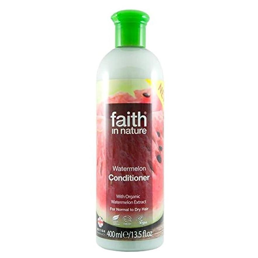 世論調査顕微鏡興味Faith in Nature Watermelon Conditioner 400ml (Pack of 4) - (Faith In Nature) 自然スイカコンディショナー400ミリリットルの信仰 (x4) [並行輸入品]