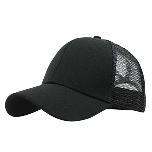 MERICAL Sombrero Unisex de Visera de béisbol Liso de Camionero Buns Buns de Ponytail