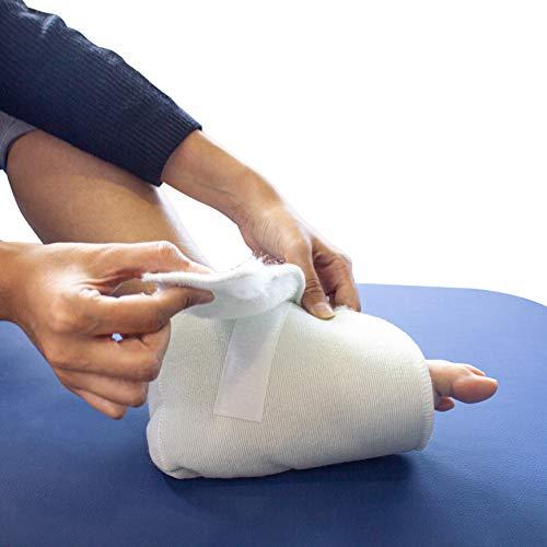 Par de patucos antiescaras para protección de pies y talones, Pie izquierdo y derecho, taloneras antiescaras, para personas en cama o silla de ruedas, Prevención de úlceras en el pie