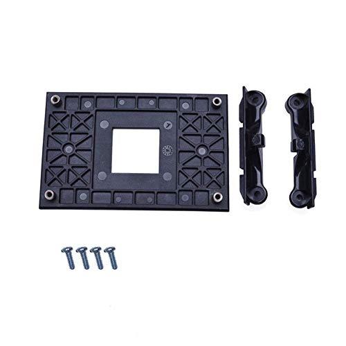 Ventilador CPU Soporte Base para AM4 B350 X370 AM4 Montaje Soporte CPU Conector Soporte Ventilador Frío Disipador Térmico Soporte Cargador Base con 4 Tornillos - Negro, 90x54mm