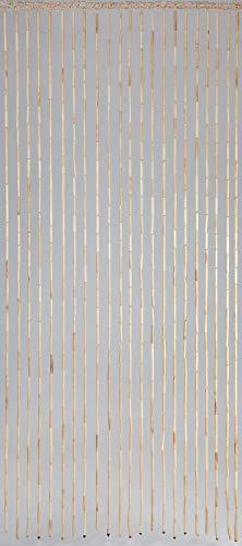 Dekorationsvorhang aus Sorghum-Stäben, naturbelassen, 22 Stränge, 90 x 200 cm