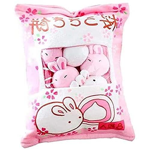UYKOKH Pufple Mini Muñeca Pudding Toys Cree una Almohada Suave de sofá de Bocadillo para decoración del hogar (Conejo). Características