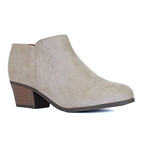 Guilty Heart bota feminina de cano baixo com bico fechado   Bota confortável para caminhar, Stone, 9