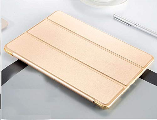 RZL PAD & TAB cases For iPad Air 9.7'', Utral-Slim Protective Smart Flip Cover Smart Folding TPU Flip Cover for iPad Air 1 A1474 A1475 (Color : Golden)
