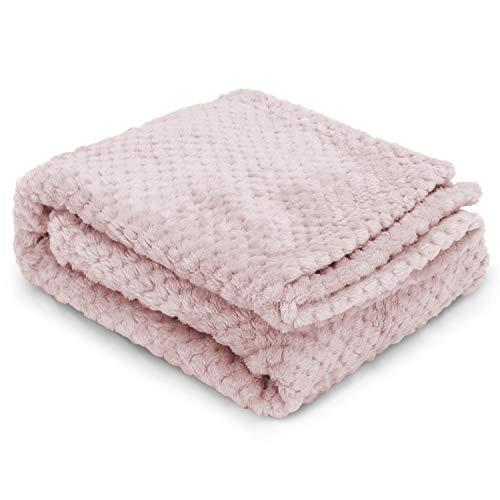 Nobleza Hundedecke Weiche Fleecedecke Waschbare Deck für Haustier Hunde Katzen Welpen Weiche Warme Matte, Khaki 120 * 100cm