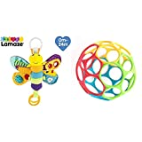 Lamaze Baby Spielzeug Freddie, das Glühwürmchen Clip & Go - hochwertiges Kleinkindspielzeug - Greifling Anhänger zur Stärkung der Eltern-Kind-Beziehung - ab 0 Monate & Oball Classic