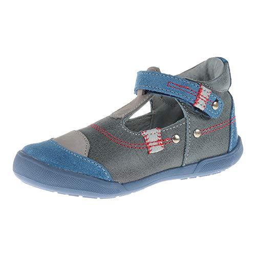Minibel Schuhe für Babys Halbschuh mit Klettverschluss Ilan Bleu Denim Gris 1M151403B09 (22 EU)
