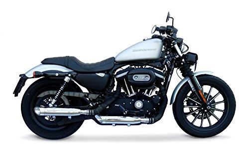GPR Exhaust System, Scarico - HD.24.1.SL Coppia Terminali Omologati con Raccordo Harley Davidson Sportster 883 dal 2010 Omologato/Homologated Slash Inox