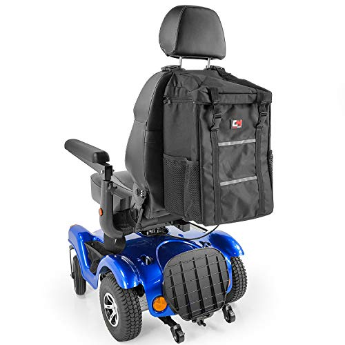 Mega Bag for Mobility Scooters and Electric Wheelchairs J840 by Challenger Mobility, Backrest Mount, Large Storage Space