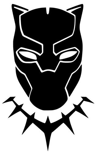 Yilooom Black Panther Masker Decal Vinyl Sticker|Auto's Trucks Vans Muren Laptop| Zwart |5.5 X 3.5 In