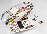 Traxxas 3717 Rustler Prographix - Piezas de Coche para Coche (Incluye Adhesivo, alas y Cuerpo)