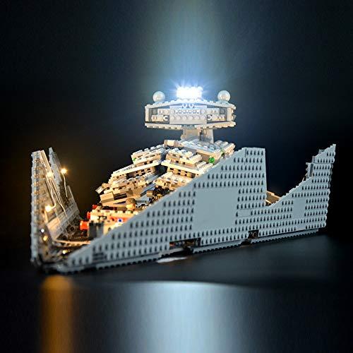 QXT Led Beleuchtungsset Für Lego Star Wars Imperial Star Destroyer, Kompatibel Mit Lego 75055 Bausteinen Modell(Modell Nicht Enthalten)