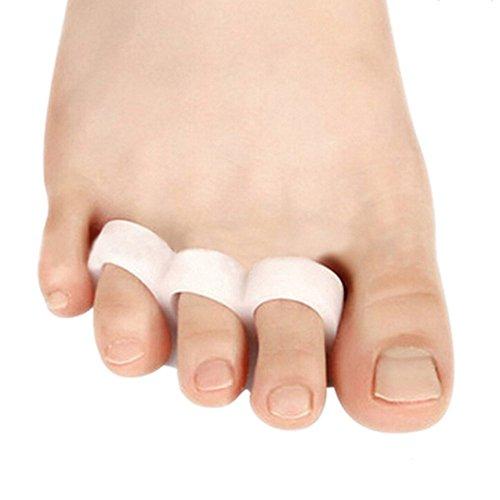 Lot de 2 séparateurs d'orteils en gel pour soulager la douleur des oignons