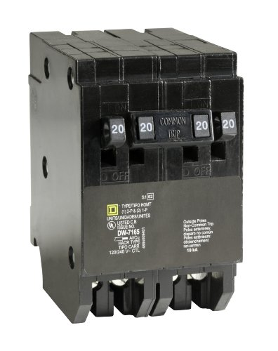 Square D by Schneider Electric HOMT2020220CP Circuit Breaker, As shown in the image